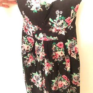 Cute Black Floral Dress